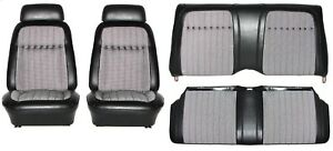 1969 Camaro Deluxe Houndstooth Interior Seat Cover Kit Oe Quality Black
