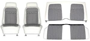 1969 Camaro Deluxe Houndstooth Interior Seat Cover Kit Oe Quality White