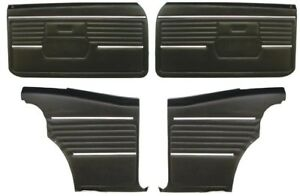 1968 Camaro Coupe Pre assembled Front Rear Door Panel Kit Black