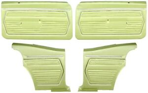 1969 Camaro Coupe Standard Door Panel Kit Pre assembled Oe Style Moss Green