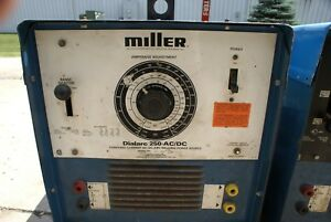 Miller Dialarc 250 Ac dc Single Phase Arc Tig Stick Welder Smaw Dial Arc