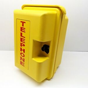 Viking Ve 9x12y 1 Heavy Duty Yellow Outdoor Telephone Enclosure missing Adapter