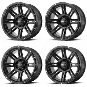 20x9 Helo He900 6x4 5 6x114 3 18 Gloss Black Wheels Rims Set 4