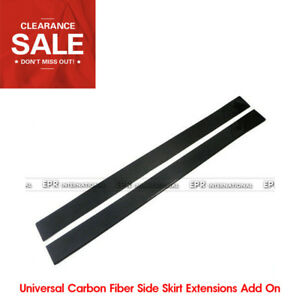 Car styling Universal Carbon Fiber Side Skirt Extensions Add On Glossy Bodykits