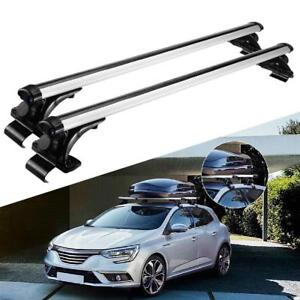 Car Top Roof Rack Cross Bars Silver Anti Theft Lock Adjustable Universal Fitment