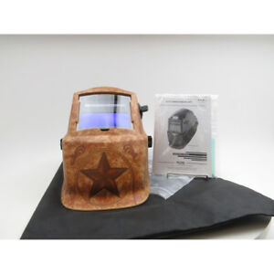 Lincoln Electric 1 73 In Variable Shade 9 13 Welding Helmet Lone Star With Grin
