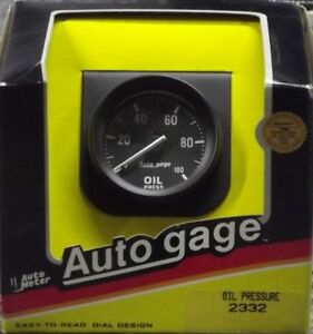 2 Inch Mechanical Oil Pressure Gauge Kit Autogage By Autometer 2332