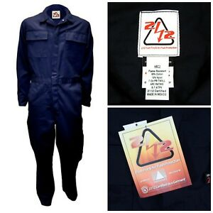Fr Fire Arc Flash Protective Contractor Coverall Welding Jumpsuit Men s 48 Reg