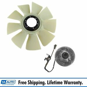 Radiator Fan Clutch Fan Blade Kit Set For Dodge Ram Cummins Turbo Diesel New