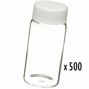 20ml Scintillation Vial 500pc Clear Glass Bottle Cap Science Lab Storage Sample