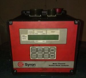 Syron Cat Dba200 Multi Channel Double Blank Analyzer parts Only