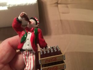 DEPT 56  Snow Village Coca Cola Delivery Men
