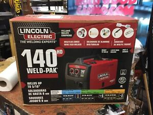 Lincoln Electric 140 Amp Weld Pak 140 Hd Mig Wire Feed Welder With Magnum 100l