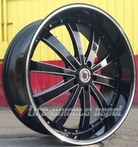 24 Inch Red Sport 77 Black And Machine Wheels Tires Rwd Dodge Charger 5x115
