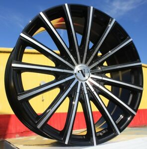 24 Inch Velocity 10 Black And Machine Wheels Tires Rwd Dodge Charger 5x115