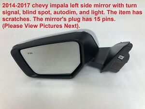 2014 2017 Chevy Impala Left Side Mirror Turn Signal Blind Spot Autodim 84269263