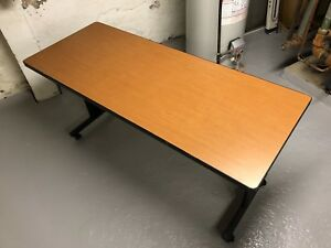 Folding Mobile Training Classroom Table Office 60in With Casters