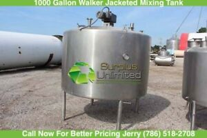 1000 Gallon Paul Mueller Jacketed Mixing Tank Sweep Agitation