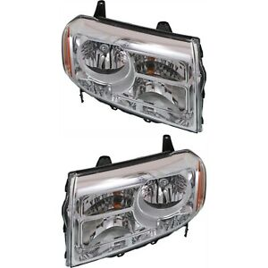 Headlight Set For 2012 2013 2014 2015 Honda Pilot Left And Right With Bulb 2pc