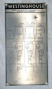 Westinghouse Transformer Nameplate Wiring Diagram Super Collectable