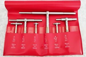 Starrett S579hz Telescoping Gages 6 Piece 5 16 To 6 Polished Steel Finish