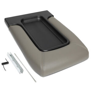 For 01 07 Silverado sierra Front Jumper Seat Center Console Lid Repair Kit Gray