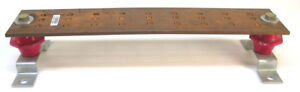 Copper Wall Mounted Ground Bus Bar 20 X 4 And 1 4 Thick 27 Hole