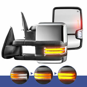 New Power Heated Turn Signal Towing Mirrors 8 pin For 15 17 Ford F150 Truck
