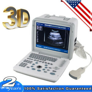 3d Portable Digital Ultrasound Scanner Machine Dynamic Pregnant Convex Probe 3d