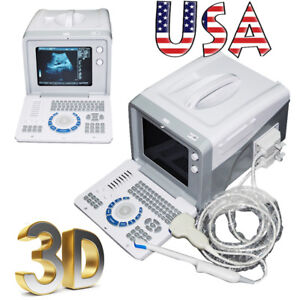 10 Portable Machine Medical Digital Ultrasound Scanner Monitor 2probes 3d Image