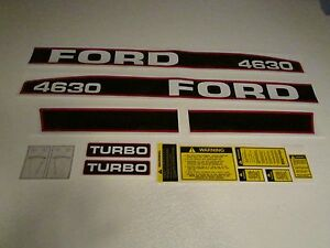 Ford Tractor Decal Set 4630 Turbo Stickers 1115 1552