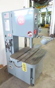 18 Grob Vertical Bandsaw 4v 18 Air hydraulic Table Feed 30184