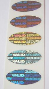 500 Security Warranty Void Svag Oval Hologram Protection Stickers Labels Seals