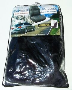 Elegance 100 sheepskin Seat Cover 585977 1 sab g Lot Of 2 Universal Fit Gray New