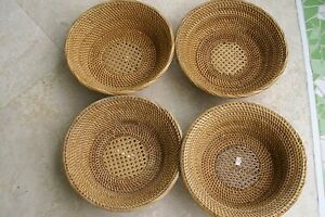 Old Large Asian Tribal Weaver Basket Sumbawa Island Rattan Detailed Collectible