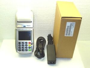 First Data Fd400gt Gprs Wireless Terminal With Power Supply Stand