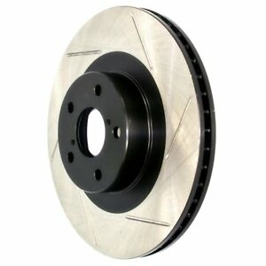Stoptech New Brake Disc Front Passenger Right Side Rwd Fwd Slotted Rh Hand Solid