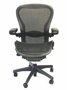 Herman Miller Fully adjustable Size C Lumbar Support Aeron Chair
