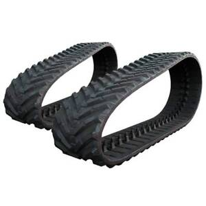 Pair Of Prowler New Holland C190 Snow And Mud Rubber Tracks 450x86x55 18