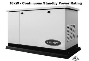 Carrier generac 16kw Standby Generator With Transfer Switch