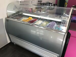 Gelato Case ice Cream Display 8 Cases 63 29 50 In Very Good Working Condition