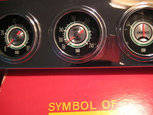 Nos Vintage N Rare Stewart Warner Green Line 2 1 16 Gauges Made In U s a