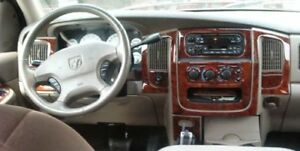 Dodge Ram 1500 2500 3500 Interior Wood Dash Trim Kit Set 2002 2003 2004 2005