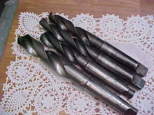 Four Morse Taper Shank Drills Sizes Are 1 15 32 1 7 32 1 9 64