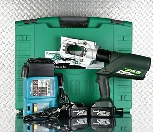 New Greenlee 12 Ton Cordless Battery operated Hydraulic Crimping Tool Burndy