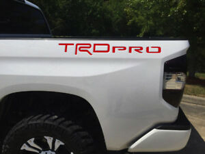 Bdtrims Red Trd Pro Letters For Toyota Tundra 2014 2019 Abs Plastic Inserts