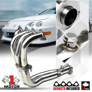 Stainless Steel 4 2 1 Exhaust Header Manifold For 94 01 Integra Gs Ls Rs B18b1