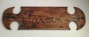 Handmade Folk Art Wooden Tavern Sign