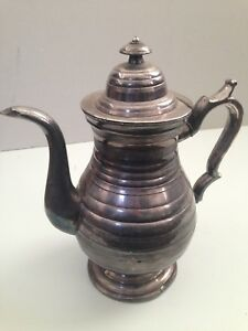 Antique Silverplated Tea Kettle Estate Find