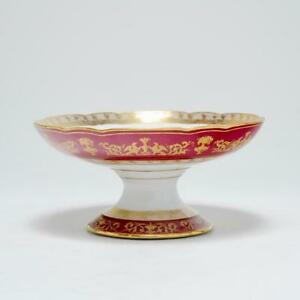 Antique Edouard Honore Paris Porcelain Coupe Bowl